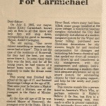 """""""Well Done for Carmichael"""""""
